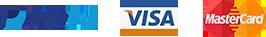 paypal visa mastercard icons